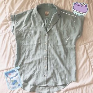 A New Day light blue button up blouse